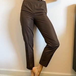 Akris Punto Neiman Marcus Brown Tapered Trousers